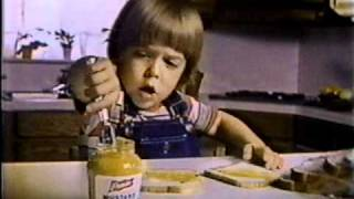 """Young boy makes a mustard sandwich while singing """"You Are My Sunshine."""" Watch hundreds of other classic '80s commercials at ..."""