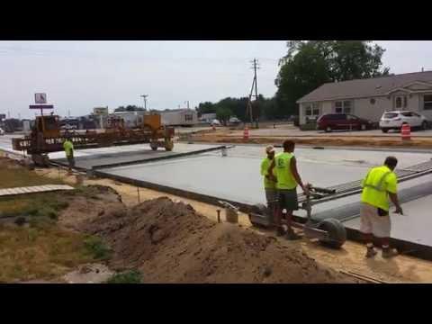 Slip Form Concrete Paving Marquette Road