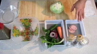 Простой рецепт салата из свежей капусты с морковью !