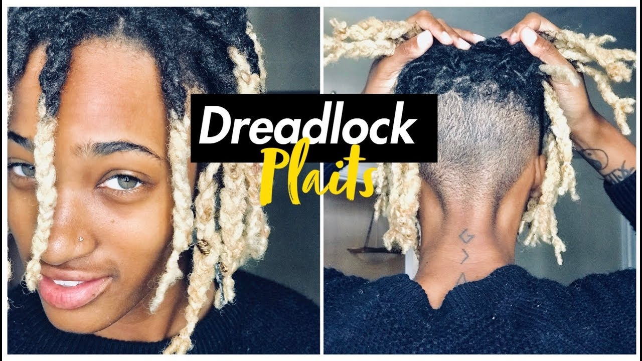 How To Dreadlock Plaits Easy Youtube