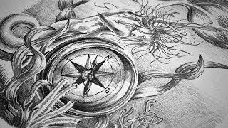 Full Sleeve Tattoo Design - Speed Drawing