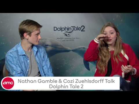 Nathan Gamble & Cozi Zuehlsdorff Talk DOLPHIN TALE 2 With AMC