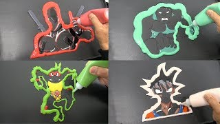 Deadpool, Hulk, Teenage Mutant Ninja Turtles, Goku Dragon Ball, Pancake Art | Coloring for Kids
