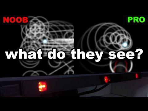 osu! eye tracking: Noob (beginner) vs Pro eye movement