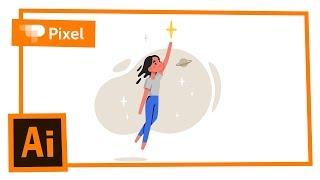 Рисуем девочку со звездой в Adobe Illustrator | уроки для новичков