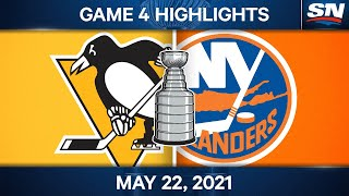 NHL Game Highlights   Penguins vs. Islanders, Game 4 - May 22, 2021