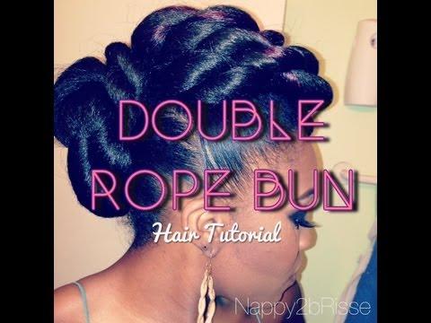 Hair Tutorial Double Rope Bun Updo Youtube
