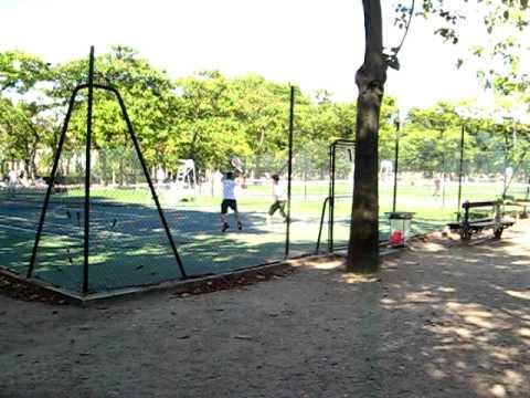 Tennis courts in Jardin du Luxembourg