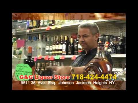 G & G Liquor Store comercial Jackson Heights New York.