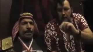 Iron Sheik and Honky Tonk Man shoot on Ultimate Warrior