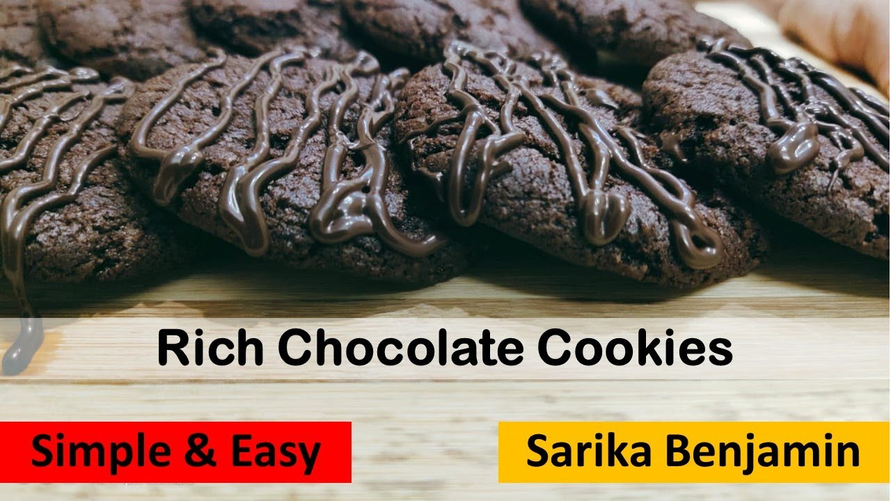 Rich Chocolate Cookies Midnight Cookies Simple Cookie Recipe Benji S Home Cooking Youtube