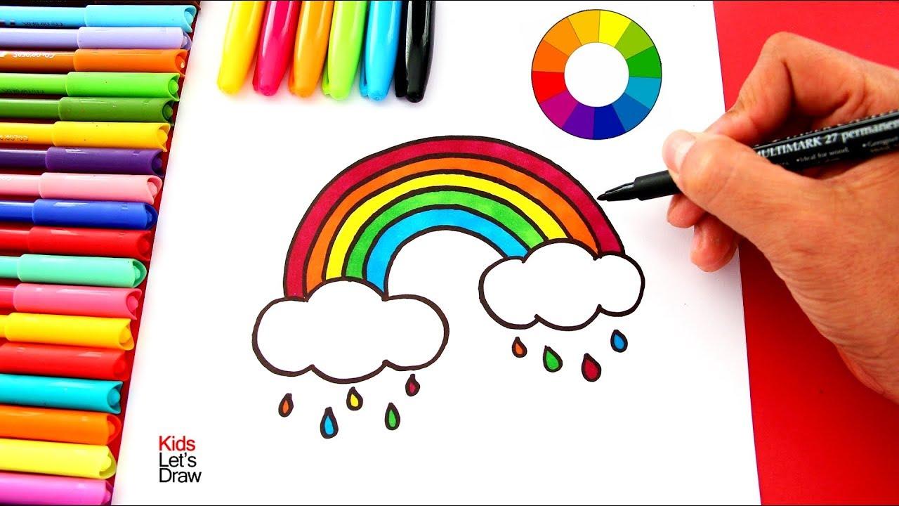 Arcoiris Con Nubes Dibujo