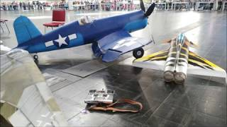 F4U Corsair scale 1/4 indoor ultralight from build to flight, no space for helium
