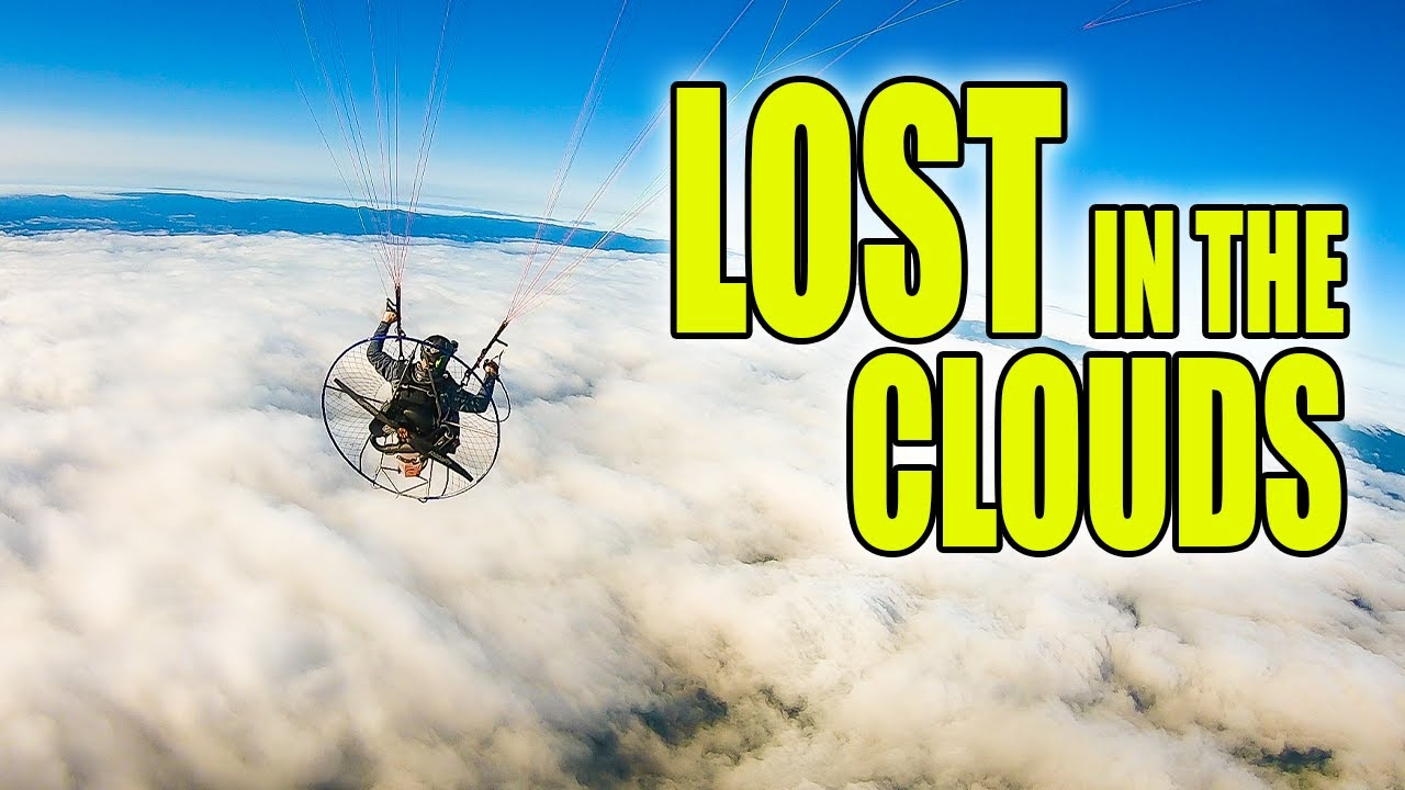 I got LOST up there!   Paramotor flight above the clouds!