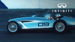 INFINITI Prototype 9 - Takes to the track