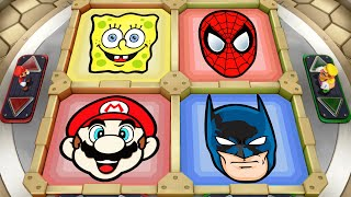 Super Mario Party MiniGames - Peach Vs Bowser Vs Mario Vs Luigi (Master Cpu)
