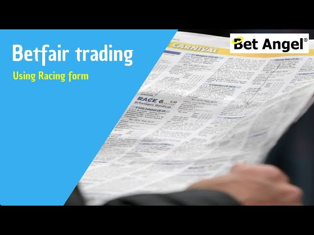 Betfair trading - Using form lines to help your trades on Horse Racing