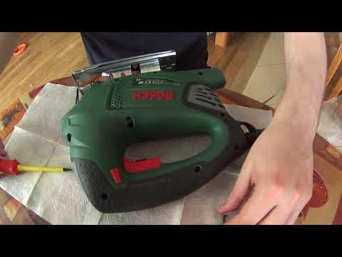 Электролобзик Bosh Pst 900 Pel отзыв и ремонт подсветки.
