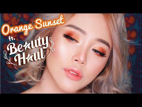 Orange Sunset Eye Makeup ft. BeautyHaul Indo | (Using Cruelty Free Brands) JANINE INTANSARI