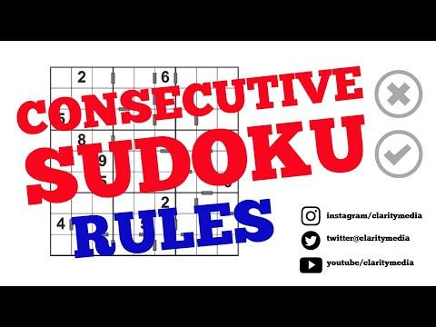 Consecutive Sudoku Rules