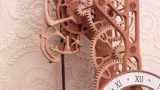 Brian Law's Woodenclocks - Clock 20 With Gravity Escapement