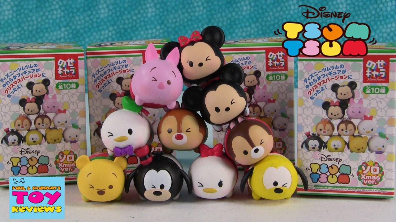 Disney Christmas Tsum Tsum Blind Box Figures Toy Review