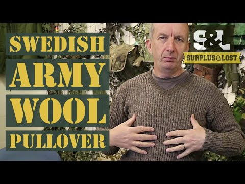 Swedish Army Surplus Wool Pullover
