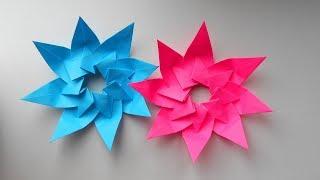Paper star Новогодняя Звезда из бумаги. Оригами поделки на Новый Год 2018