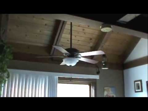 Installing ceiling fan on an exposed beam ceiling youtube mozeypictures Image collections