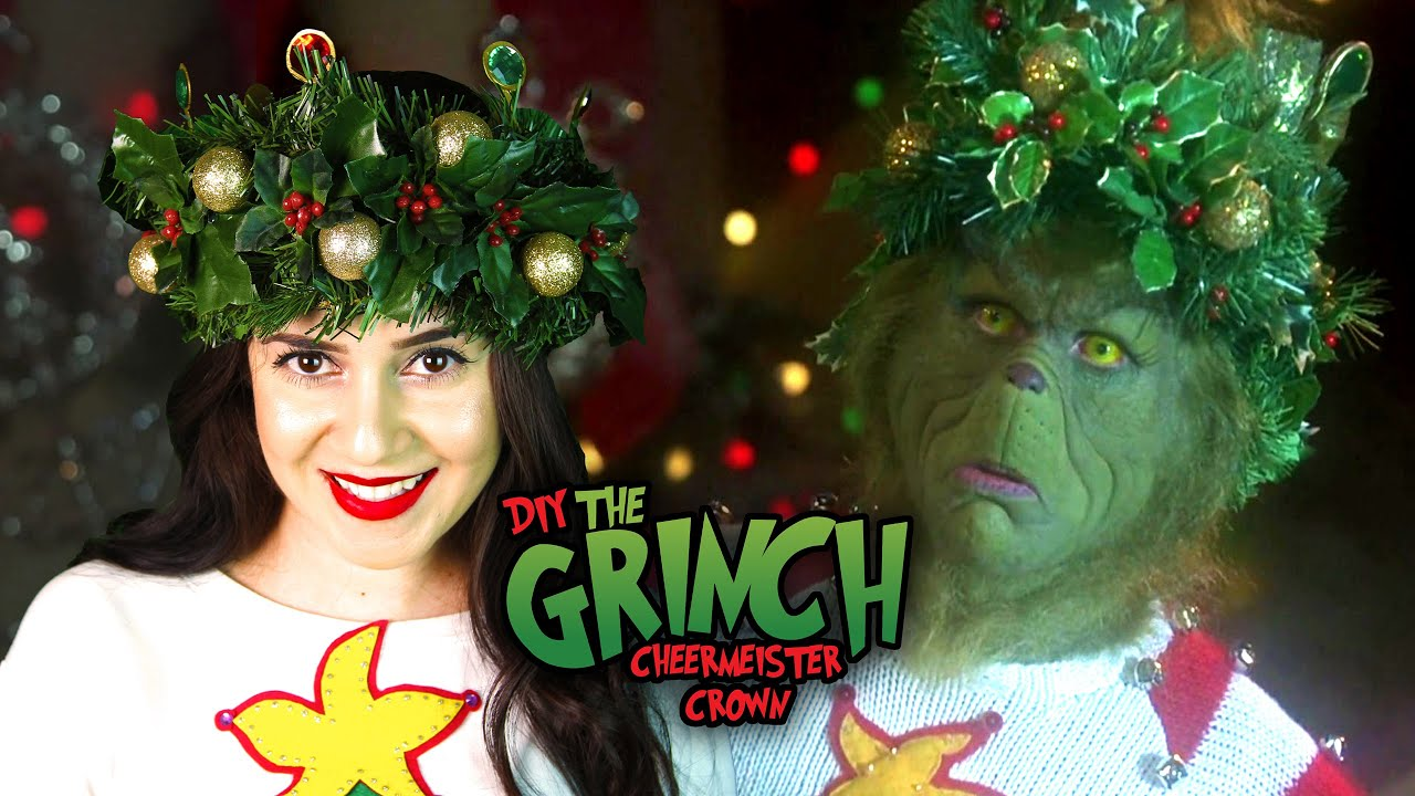 DIY THE GRINCH HOLIDAY CHEERMEISTER CROWN || Lucykiins