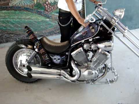 motocicleta yamaha tipo virago 535 cc modificada 1998. Black Bedroom Furniture Sets. Home Design Ideas