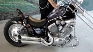 Repeat youtube video MOTOCICLETA YAMAHA TIPO VIRAGO 535 cc MODIFICADA 1998