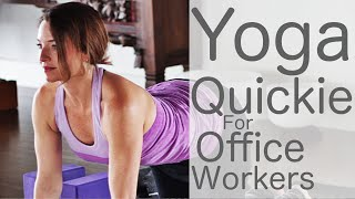 15 Minute Yoga Quickie for Office Workers  | Fightmaster Yoga Videos