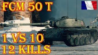 FCM 50 t  12 Kills (1 vs 10), 5100 Damage Winter Himmelsdorf World of Tanks