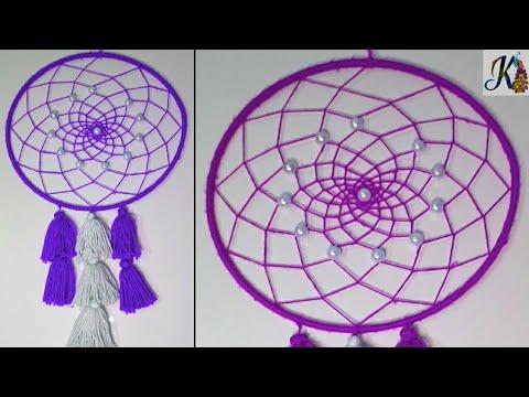 DIY Easy Way to Make Dream Catcher | room decoration ideas | handmade craft | diy dream catcher