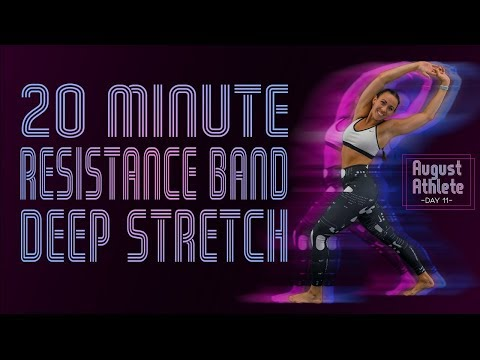 20 Minute Resistance Band or Towel Deep Stretch | Sydney Cummings
