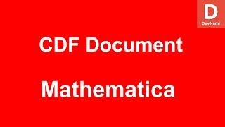 Mathematica Create CDF Document