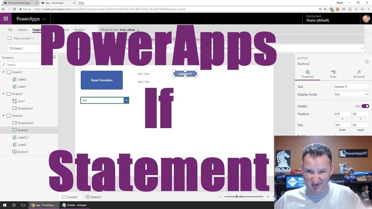 Intro to the PowerApps If Statement