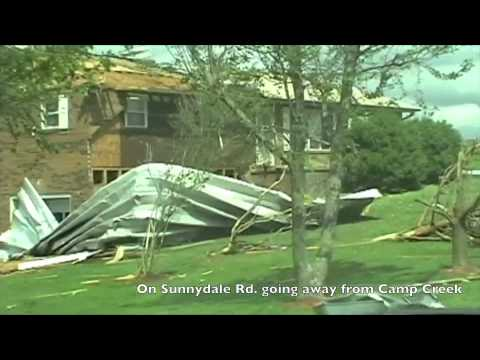 Aftermath of the tornado in Camp Creek on Sunnydale road in Greeneville TN