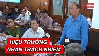 Hiệu trưởng Trường THCS Bạch Đằng nhận trách nhiệm vụ cây đổ khiến 1 học sinh tử vong | NLĐTV