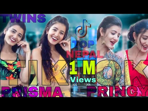 Twins Sister Prisma And Princy Khatiwada || All New Collection Of Tiktok (musically)