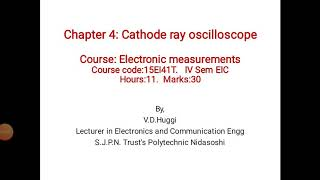 Chapter 4 : Cathode ray oscilloscope, Solved question bank