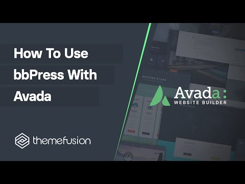 How To Use bbPress With Avada Video