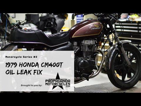 1979 Honda CM400T Oil Leak Fix
