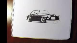 Speed drawing: Volvo 122