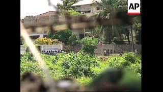 LIBERIA: MONROVIA: US EMBASSY SOLDIERS ON FULL ALERT thumbnail