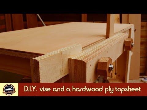 Plywood workbench | DIY MOXON vise and a hardwood ply topsheet | #3
