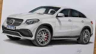 Mercedes Benz Gle AMG S   SPEED DRAWING  Dibujo Realísta