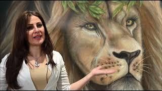Randa Hijazi solo exhibition entitled Beat (VIRTUAL) with lions Clubs International 2021رندة حجازي