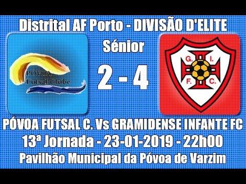 "Distrital AF Porto - Elite 13ª Jor. ""Póvoa FC Vs Gramidense IFC"" 2018/19"